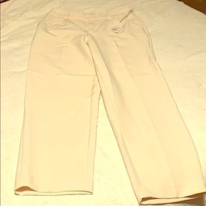Buttery cream colored cropped slacks